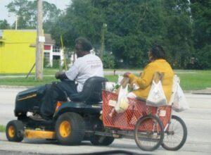 lawn mower chauffeur