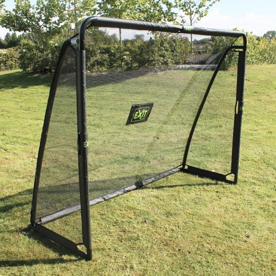 exit coppa steel football goal 220x170cm black douglas forest and garden. Black Bedroom Furniture Sets. Home Design Ideas
