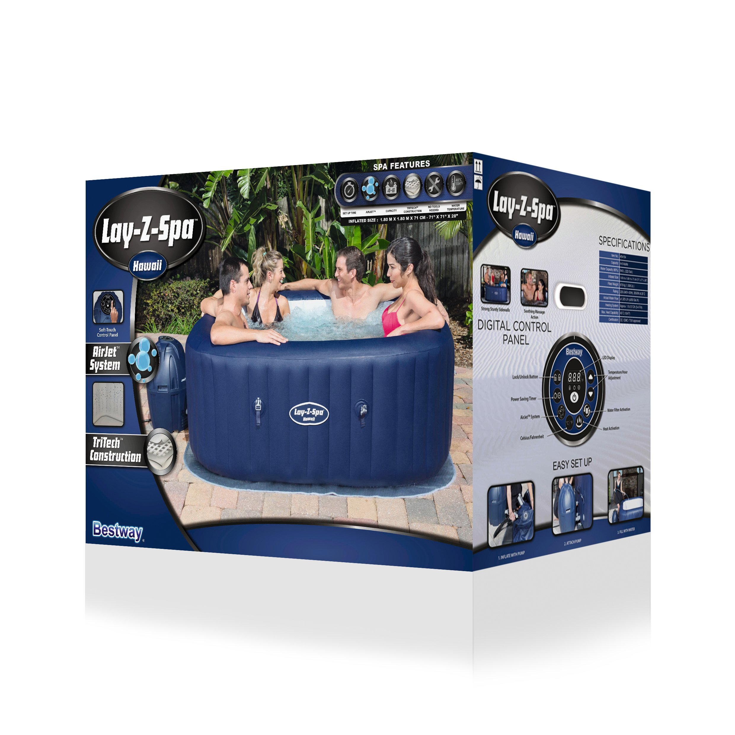 Lay Z Spa Hawaii Airjet Hot Tub Douglas Forest And Garden